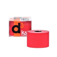 d3 Kinesiology Sports Tape - 50mm x 6m - Red